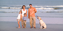 beach family picture of florida family